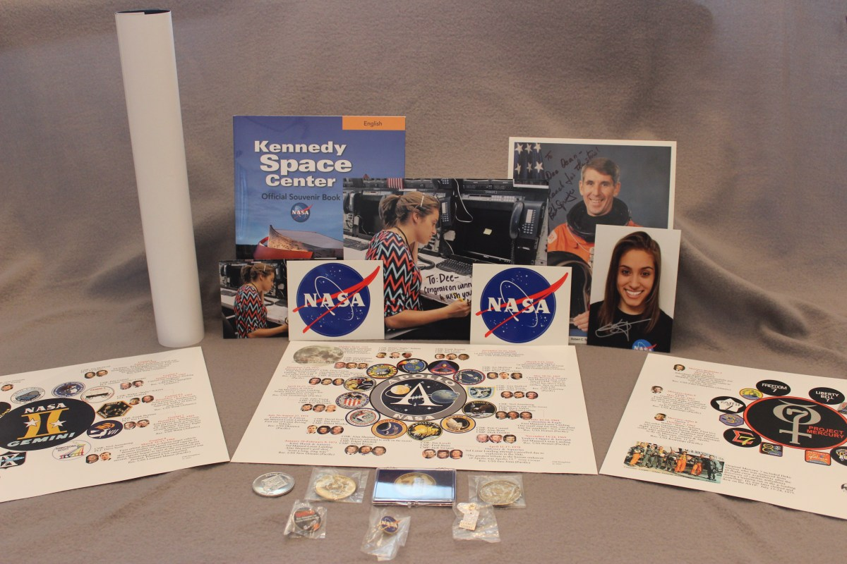 A prize package full of NASA goodies..thank you, Skye Schwartz!